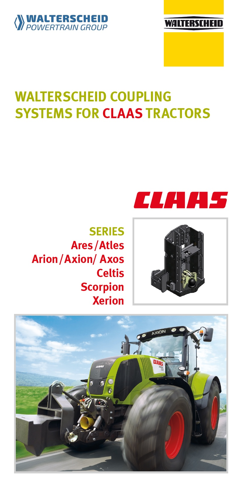Coupling systems for Claas tractors