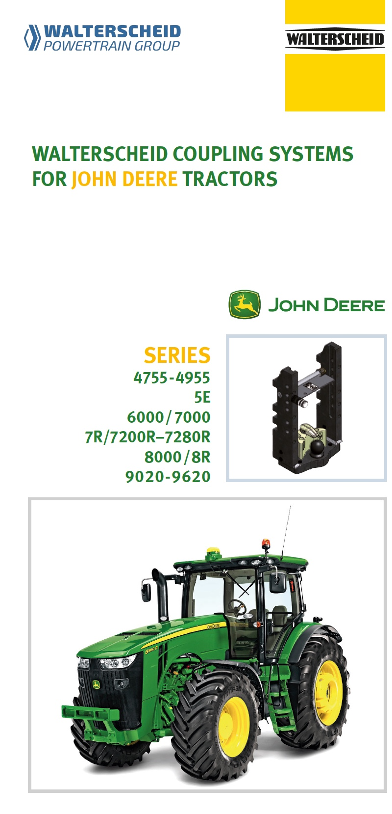 Coupling systems for John Deere tractors