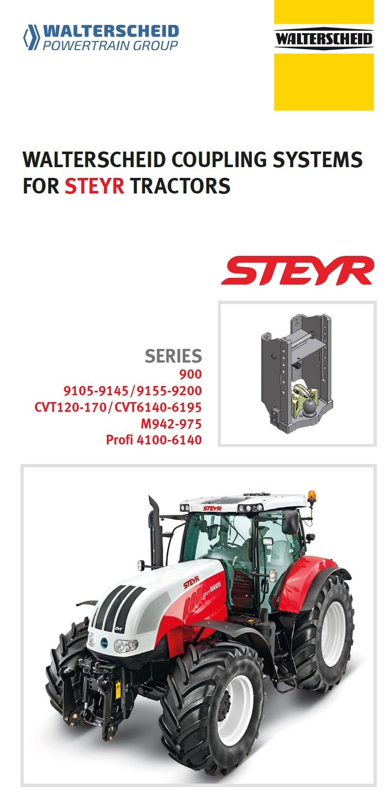 Coupling systems for Steyr tractors