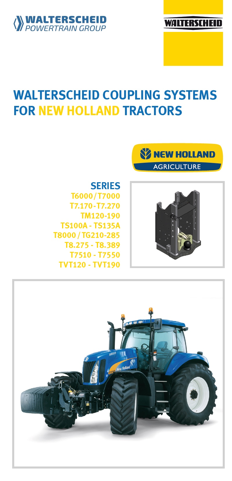 Coupling systems for New Holland tractors