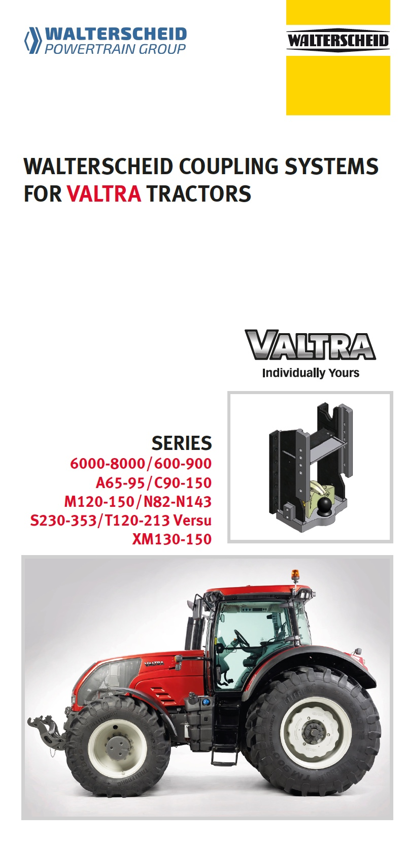 Coupling systems for Valtra tractors