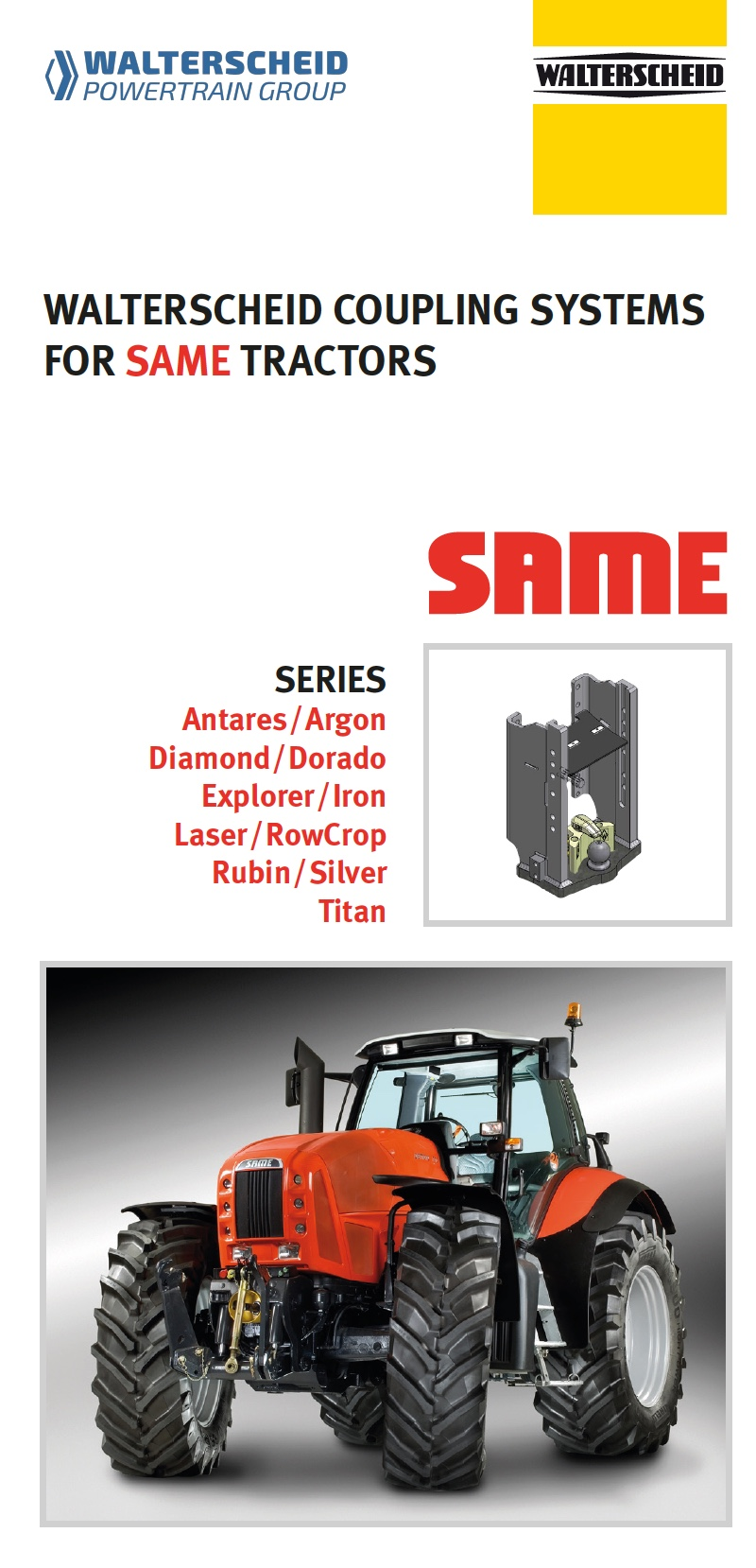 Coupling systems for SAME tractors