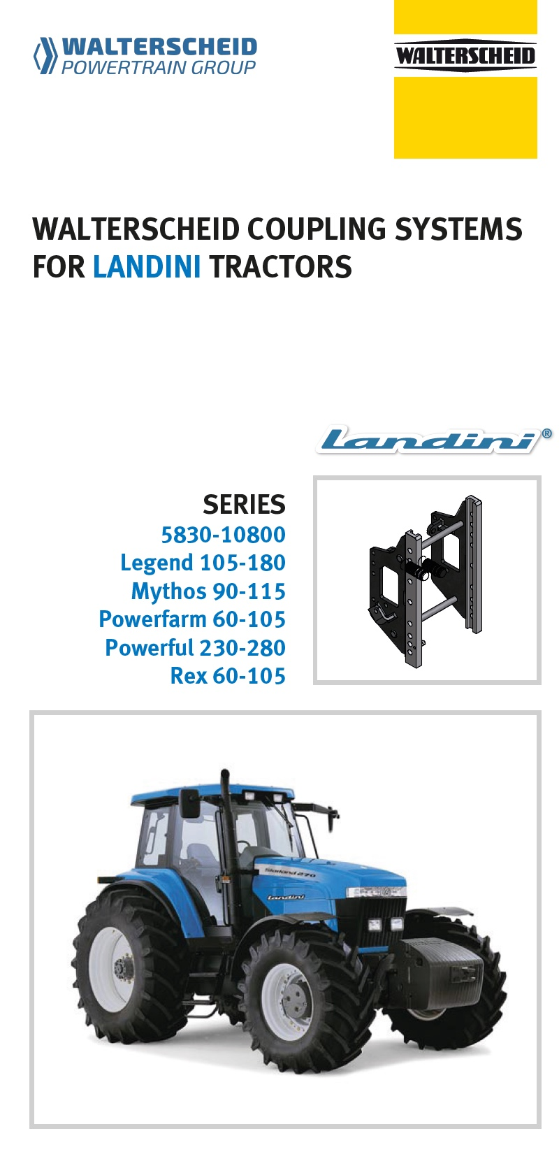 Coupling systems for Landini tractors