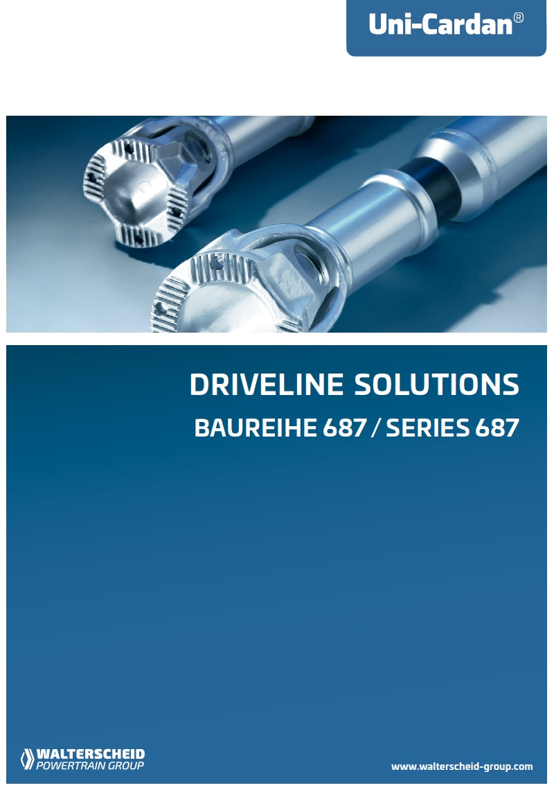 Uni-Cardan® Driveline Solutions Series 687