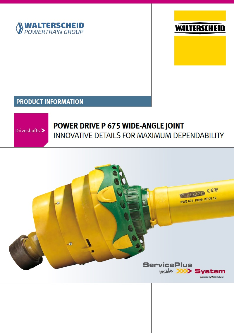 Power Drive P675 Wide-angle joint
