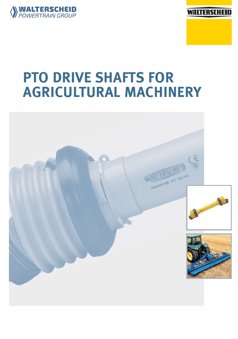 PTO Drive shafts for agricultural machinery