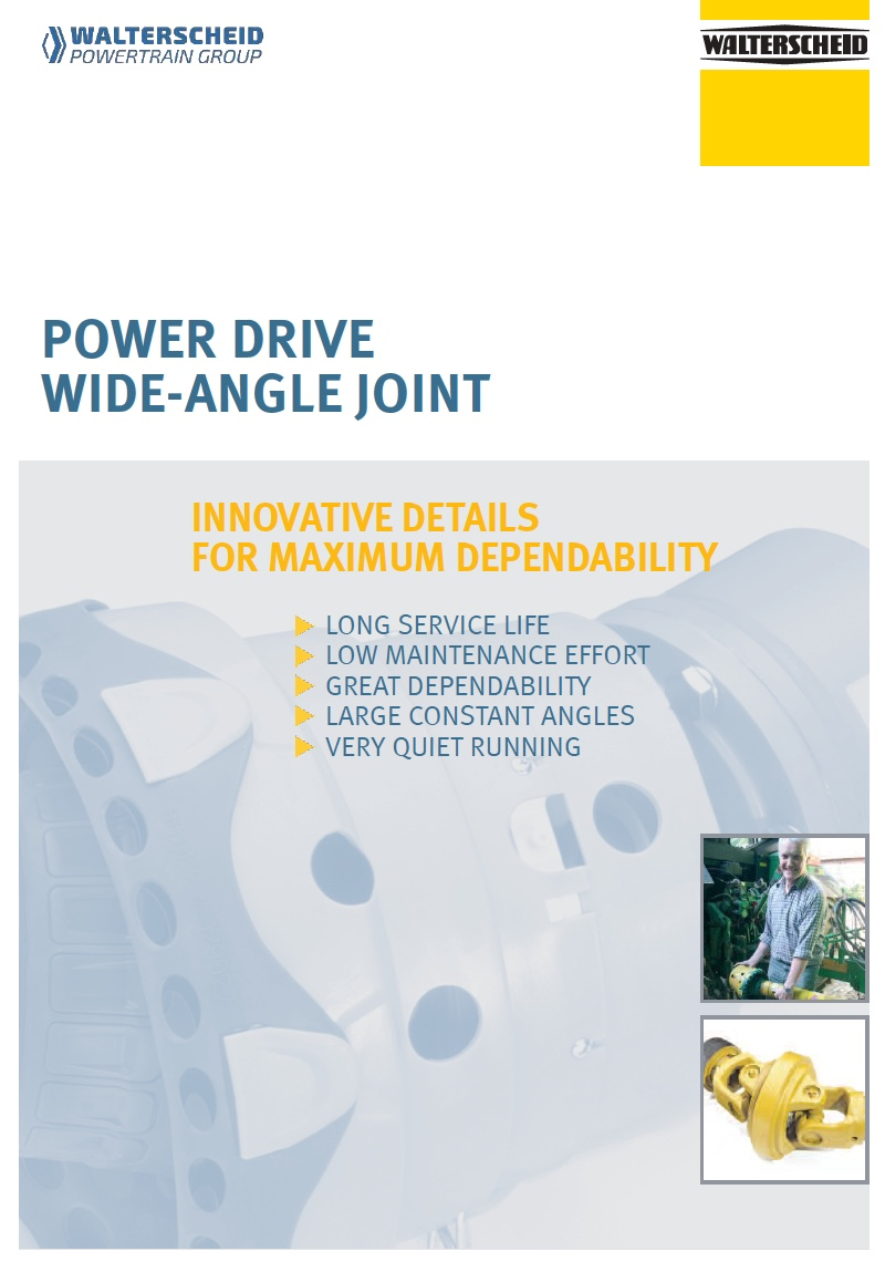 Power Drive wide-angle joint